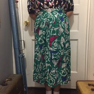 Vintage 80s Skirt By Robyn Size Medium
